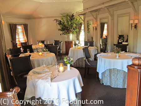 The French Laundry Yountville interior decor