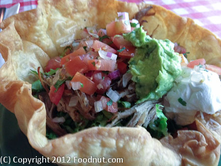 The Little Store Woodside taco salad carnitas