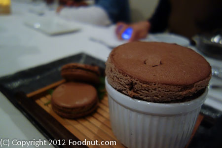 The Sea by Alexanders Steakhouse chocolate Souffle