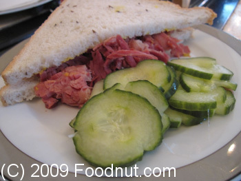 The Wolseley London UK Salted Beef Sandwich