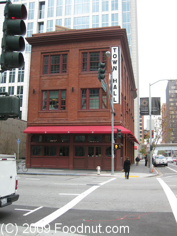 Town hall restaurant review san francisco 94105 for American cuisine in san francisco