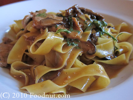 Trattoria Di Umberto Restaurant Whistler BC Canada Pappardelle veal pasta