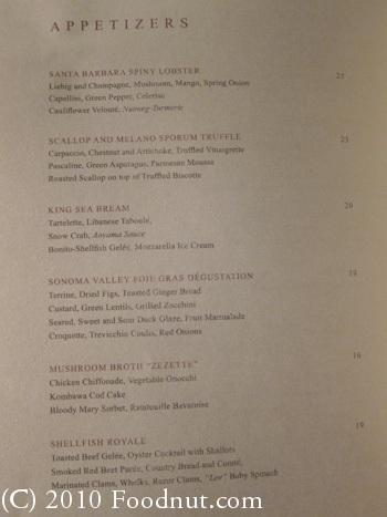 Twist by Pierre Gagnaire Las Vegas Menu 6