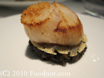 Twist by Pierre Gagnaire Las Vegas Scallop and Melano Sporum Truffle 3