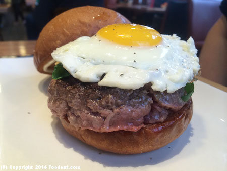Umami Burger San Francisco Truffle Burger with egg