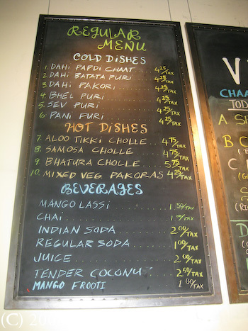 Viks Chaat Corner Berkeley Menu 1