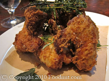 Wayfare Tavern San Francisco organic fried chicken