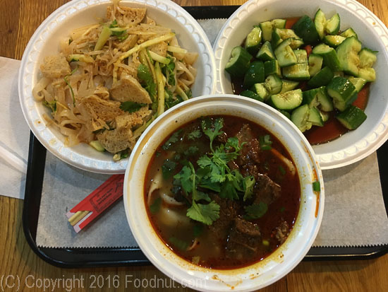 Xian Famous Foods New York Oxtail Noodles Cucumber Liang pi Cold Skin