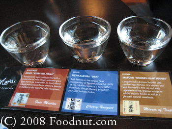 Yoshis San Francisco Sake Sampler