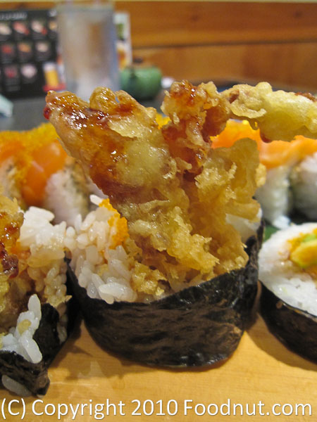 Yuzu Sushi and grill Soft Shell Crab Roll