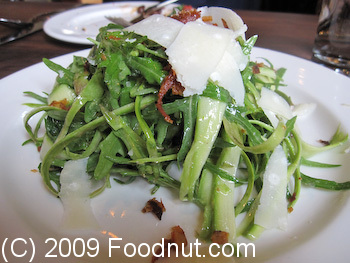 flour and water San Francisco shaved asparagus salad